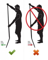 Which way do you hold a SUP paddle?